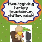 Thanksgiving Turkey Touchdown Station Pack!