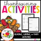 Thanksgiving Unit with Math, Writing, Reading, & a Word Wo