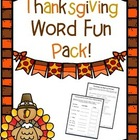 Thanksgiving: Word Fun Activities Pack