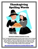 Thanksgiving Words and Activity Packet