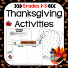 Thanksgiving Worksheets and Activities: Primary Grades