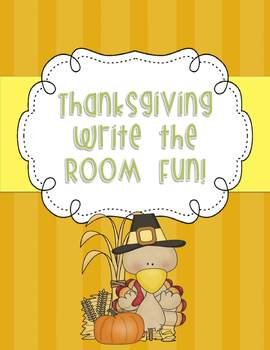 Thanksgiving Write the Room Fun