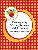 Thanksgiving Writing Frames with Visuals and Sentence Star