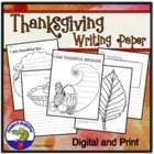 Thanksgiving Writing - I am Thankful Sheets
