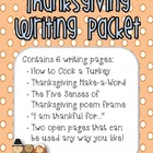Thanksgiving Writing Packet
