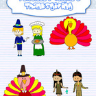 Thanksgiving characters clipart