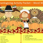 Thanksgiving spelling packet by SpellingPackets.com