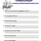Thanksgiving/Mayflower Webquest