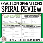 The 12 Days of Fraction Operations Spiral Review Activity