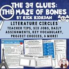 The 39 Clues: The  Maze of Bones Reading Literature Circle