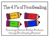 The 4 P's of Proofreading- Back to School Writing Resource
