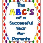 The ABC's of a Successful Year for Parents