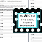 The ABC's of the Civil Rights Movement-a reading, research