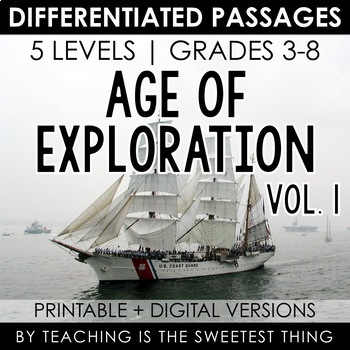 {The Age of Exploration} Nonfiction Leveled Texts, Common Core Questions, Key