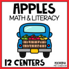 The Apple of My Eye Kdg Math and Literacy Work Stations