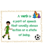 The Big Game!  Verb Activities