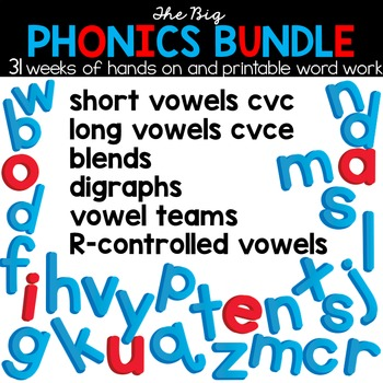 The Big Phonics Bundle - Spelling and Phonics Interactive Activities
