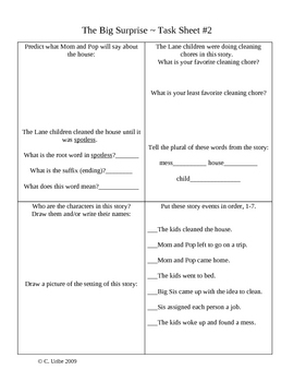 The Big Surprise Activity Sheets ~ Phonics Library ~ HM® Reading