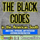 The Black Codes:  Examining Southern Reconstruction throug