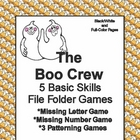 The Boo Crew Basic Skill File Folder Games
