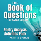 """The Book of Questions"" by Pablo Neruda Activity Pack"
