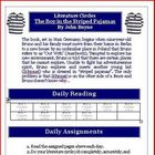 The Boy in the Striped Pajamas Literature Circle Activity