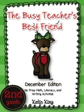 The Busy Teacher's Best Friend Christmas Edition SECOND GRADE