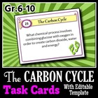 The Carbon Cycle - Task Cards