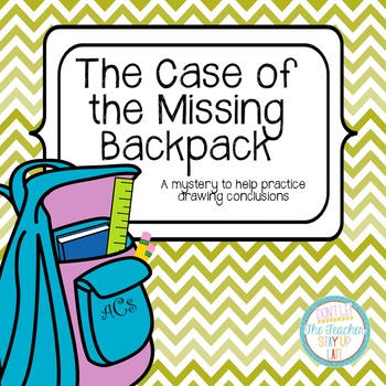 The Case of the Missing Backpack - an activity for drawing