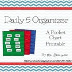 The Daily 5 Center Organizer, Pocket Chart Printable, The