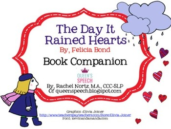 The Day It Rained Hearts {Book Companion}
