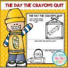Back to School...The Day The Crayons Quit...Craft/Activiti