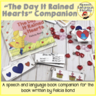 """The Day it Rained Hearts"" Speech Language Companion"