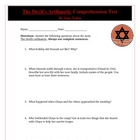 The Devil's Arithmetic Reading Test Assessment and KEY