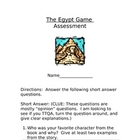 The Egypt Game Assessment