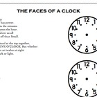 The Faces of a Clock - clock hand positions poem