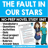 The Fault in Our Stars NOVEL UNIT (questions, quizzes, pro