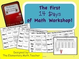 The First 14 Days of Math Workshop- Unit Lesson Plans!