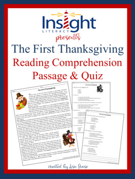 The First Thanksgiving Reading Comprehension Passage and Questions