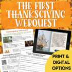 The First Thanksgiving Webquest
