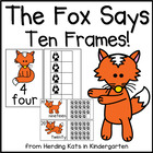 The Fox Says Ten Frames! Posters, Workstation Cards and Wo