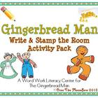 The Gingerbread Man Write / Stamp the Room Activity Pack