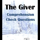 The Giver Comprehension Check/Study Guide Questions - Enti