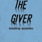 The Giver Reading Quizzes (Short answer)--All Chapters!