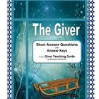 The Giver Short Answer Questions