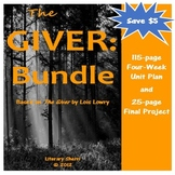 The Giver by Lois Lowry: Complete Unit and Final Project B