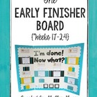 The Grade 5-6 Early Finisher Board {Weeks 17-24}