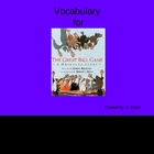 The Great Ball Game Vocabulary Houghton Mifflin Series