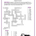 The Great Gatsby: Anagram Crossword--Good Spelling Workout!