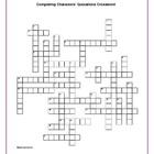 The Great Gatsby: Completing Characters' Quotations Crossword